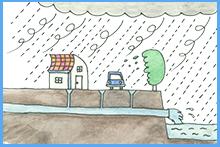 ゲリラ豪雨対策 図
